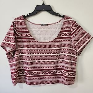 NWOT Charlotte Russe Tribal Crop Top Size 3X